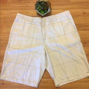 O'Neill White/Gray Plaid Shorts
